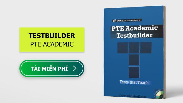 Sách ôn thi PTE Academic Test Builder – Macmillan