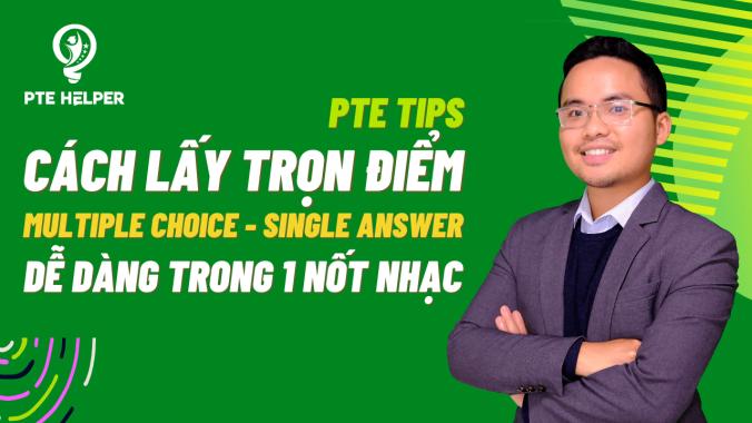 PTE Multiple Choice Single Answe