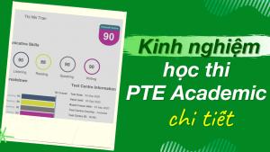 Kinh nghiệm học thi PTE Academic