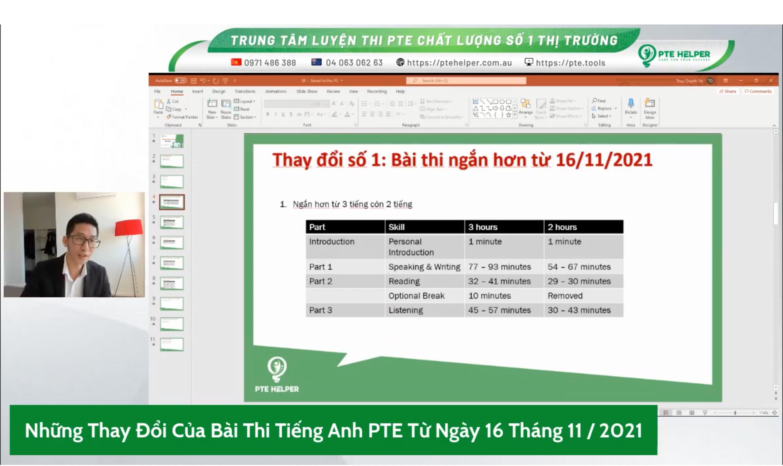 Những thay đổi mới nhất của bài thi PTE Academic
