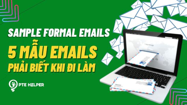 sample formal emails